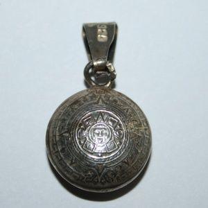Taxco Aztec Sun pendant sterling silver